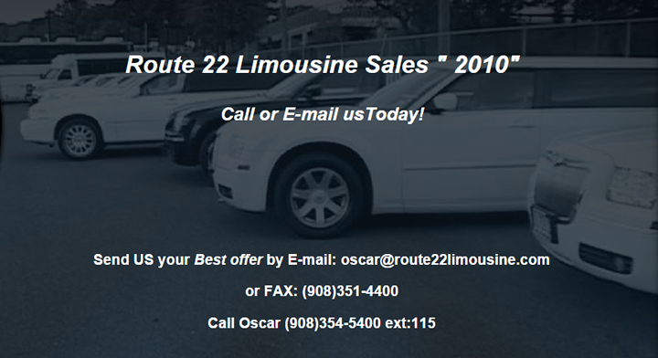 Limousine Sales RT22 NJ